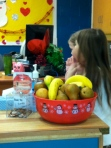 Fruit Bowl in the office - kids help themselves