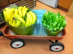 Snack Wagon with fresh fruit and veggies